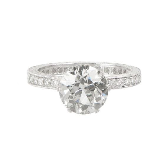 Old European 2 10ct Diamond Engagement by EstateDiamondJewelry