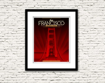 The Streets of San Francisco Series Golden Gate Bridge Poster 16x20