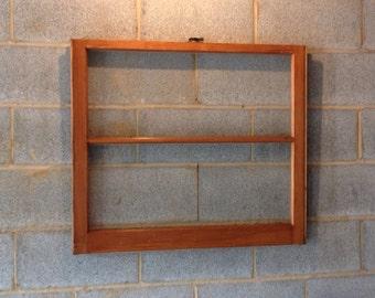 Vintage 2 Pane Window Frame - Brown, Rustic, Antique, Wood, Wedding, Beach Decor, Photos, Picture Frame, Dry Erase Board, Christmas Decor