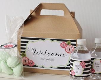 Set 10 Wedding Welcome Gable Box