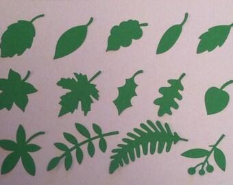 14 die cut leaf toppers