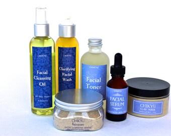 Skin Care Set, Skin Care Gift Set, Mini Skin Care Set,Trial Size Skin Care Set, Rejuvenate Collection -  Balanced Skin (Set of 6)