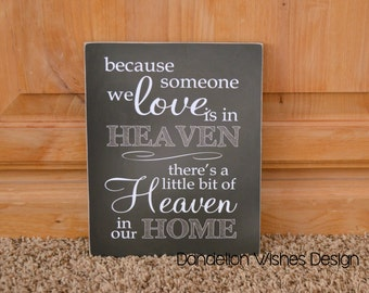 Memorial Gift or Funeral Decoration, Chalkboard Sign, Funeral Gift, Remembrance Gift, Sympathy Gift, Bereavement Gift, 8x10 Wooden Sign