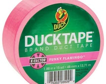 Funky Flamingo Pink Duck Tape Brand Duct Tape Roll for crafts and Party Supplies