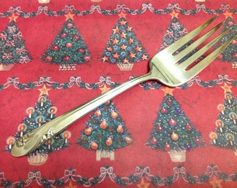 Vintage HOLMES & EDWARDS 1952 ROMANCE Cold Meat Serving Fork 9""