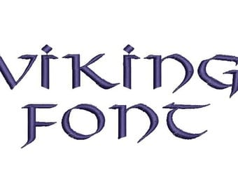 Viking Font A-Z and 0 -9 Embroidery Design