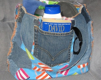 Repurposed Denim Beach Bag