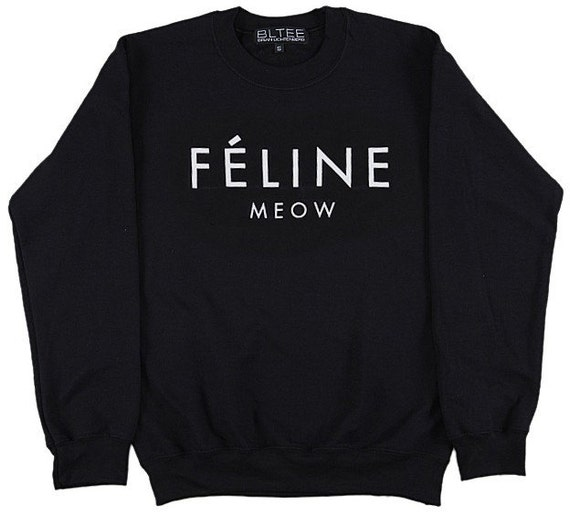 Celebrity street style craze Felline Meow commes vogue geek dope Sweatshirt