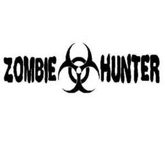 Zombie Decal, walking dead decal, hunter decal, Zombie, vinyl decal for tumbler, truck decals , decals for women men,  vinyl stickers,