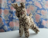 Little Reindeer Stuffed Animal Baby Rattler Toy From Vintage Pattern