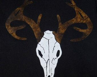 Deer Skull Quilt Applique Pattern Design