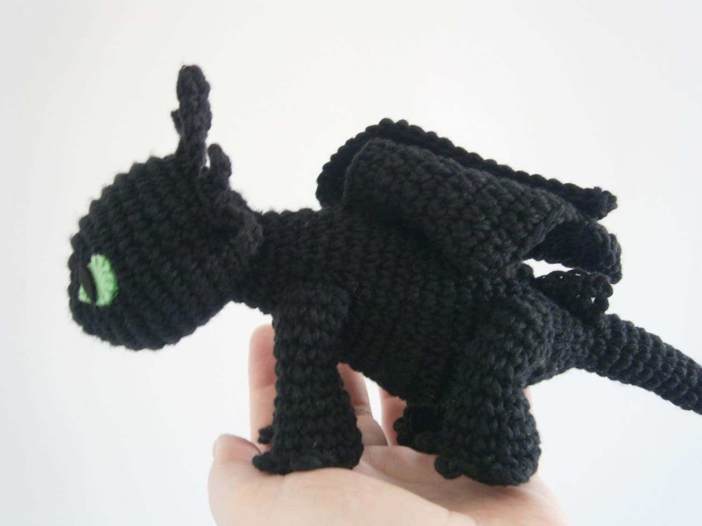Zahnlos wie Train Your Dragon Amigurumi schwarz von ...