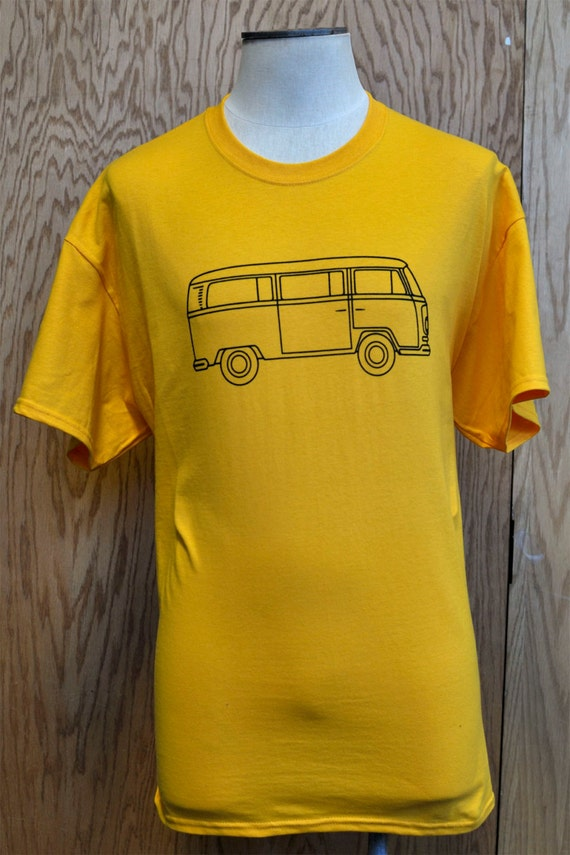 volkswagen vintage bus logo t shirt classic vw type 2. Black Bedroom Furniture Sets. Home Design Ideas
