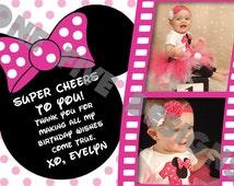Minnie Mouse Birthday Printable Thank You Card (4x6)