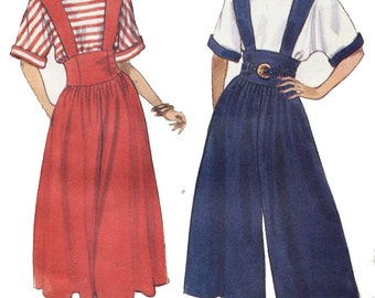 Butterick 4712 Fast & Easy Sewing Pattern  Misses'  Top, Jumper and Jumpsuit  Sizes 6,8,10
