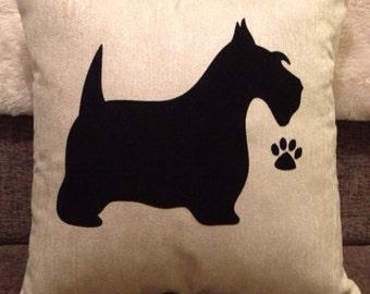 Personalised Scottie Dog Cushion