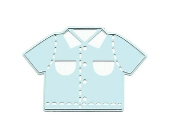 "Joy! Crafts Cutting & Embossing Die ~ Baby Boy - Shirt, 1.625""X2.5"" ~"