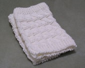 Boot Cuffs, Boot topper, Hand knitted, white acrylic yarn, size small to medium