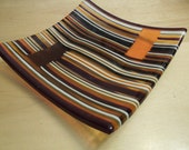 """10""""x10"""" Tribute to Autumn Striped Plate"""