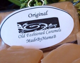 Box of 16 extra creamy, old fashioned, homemade caramels - choose from six indulgent flavors