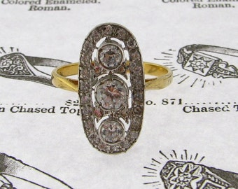 Edwardian Style Ring, Sterling Silver and CZ