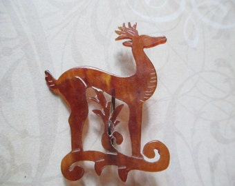 50% OFF  Tortoiseshell Deer Pin