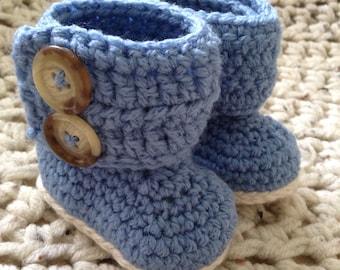 Snow Bunny crocheted baby booties