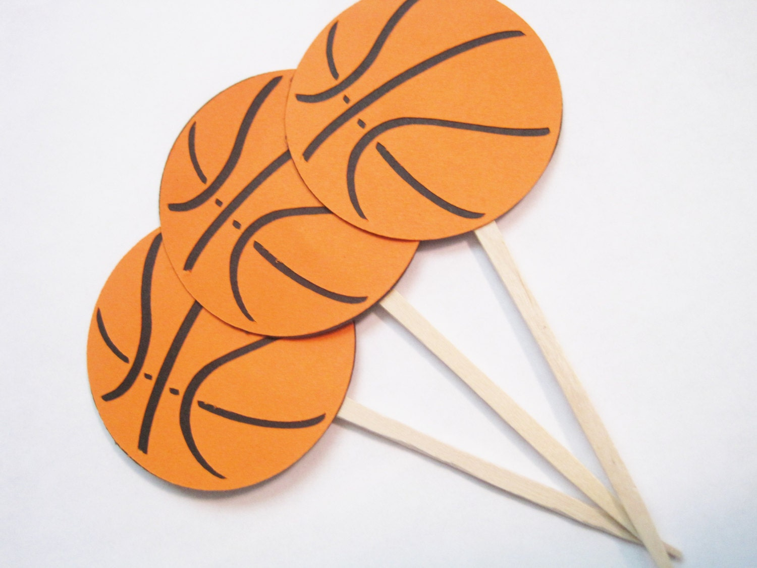 Basketball cupcake toppers baby shower by CelebratingTogether