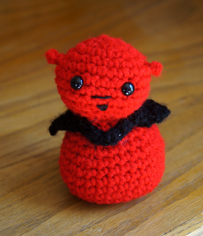 Amigurumi Zeitschrift Halloween : Devil crocheted Halloween Amigurumi