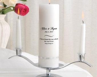 Personalized Wedding Unity Candle Set_330