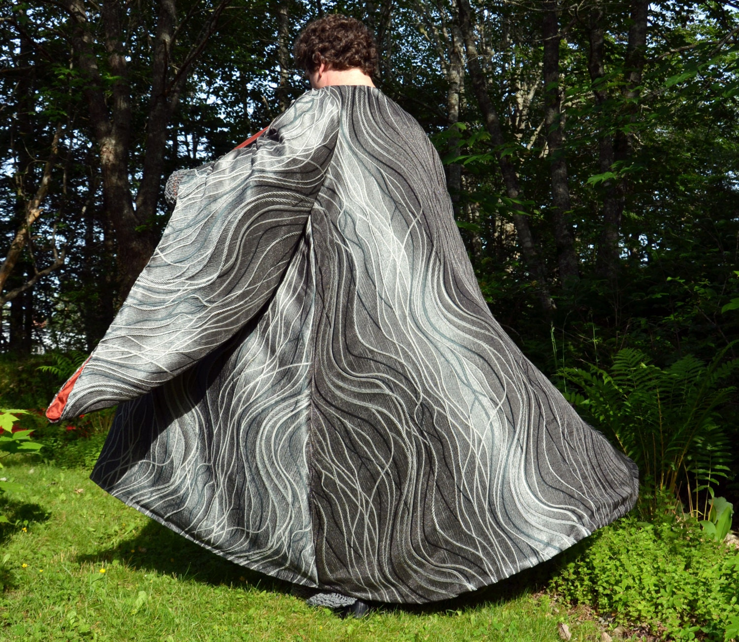 Elven King Robe elegant and dramatic costume coat for Elven