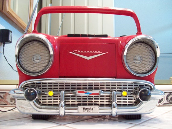 Vintage randix radio red 1957 chevy chevrolet 57 bel air am fm