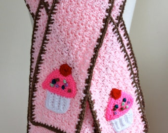 Mommy and Me Cupcake Scarves - Ready to Ship