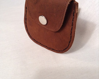 Coin Purse, Purse, Wallet, Brown Purse, Antique appearance, Metal Catch, Hand sewn.