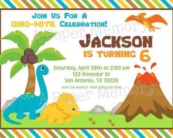 Dinosaurs Invitation Birthday DIY Printable