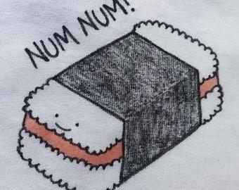 Num Num Spam Musubi Illustration