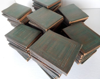 Little Leather Library Redcroft Edition Miniature Books - Set of 92 Books - Nearly Complete RARE COLLECTION C.1920-1924