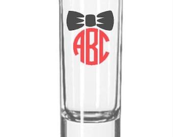 1.5 oz shot glass - monogrammed
