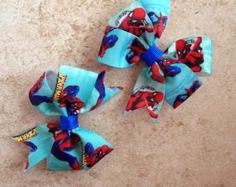 Spiderman Superhero Bow Set of 2