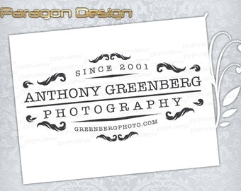 Premade Logo and Watermark - Customized For Photography / Any Business - Vector Logo Design (031)