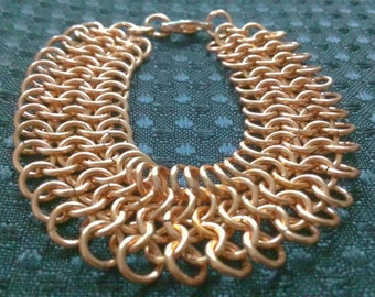 medieval: chainmaille bracelet - in copper