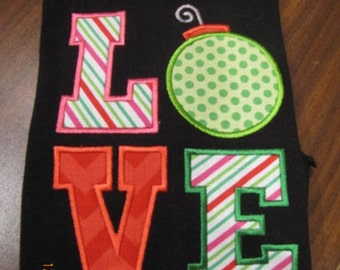 Love ornament applique