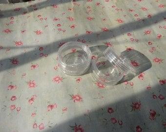 set of 30--mini clear plastic box--round shape plastic box--plastic jewelry box--35x20mm--OC3022-30