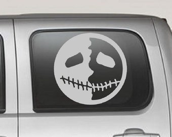 Creepy Smile Decal sticker wall art car graphics room decor twighlight blood emo goth gothic metal AA31