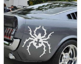 Black Widow Spider Decal sticker wall art car decal creepy graphics room decor emo goth gothic metal AA60