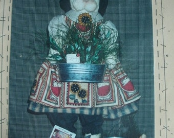 My Secret Garden - 19 Inch Kitty Doll and Outfit Sewing Pattern 136 from Prairie Grove Peddler Cheryl Haynes Copyright 1995 NEW Pattern