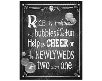 Bubble Send Off Chalkboard style PRINTABLE DIY Wedding sign - immediately available via download - Rustic Collection - Wedding Signage