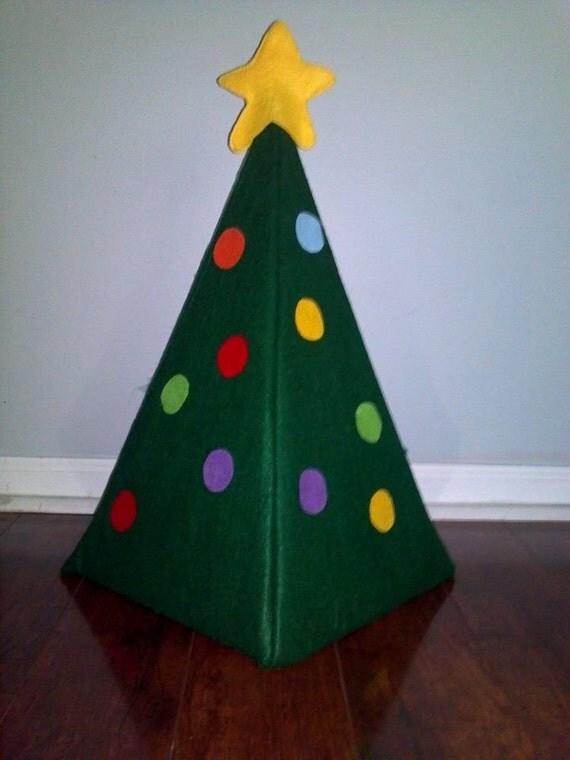 felt christmas tree felt board flannel board busy board. Black Bedroom Furniture Sets. Home Design Ideas