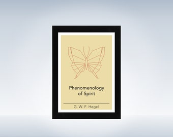 Philosophy art - Hegel - philosophical origami minimalistic print on paper or canvas up to A0 size inspired by a philosophy book