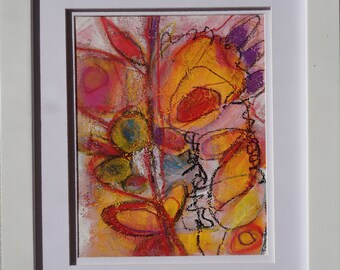 """Original modern abstract painting contemporary art decor 10"""" by MARTLEQUIN number 577"""